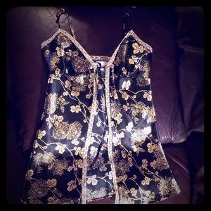 Victoria secret black and gold lingerie